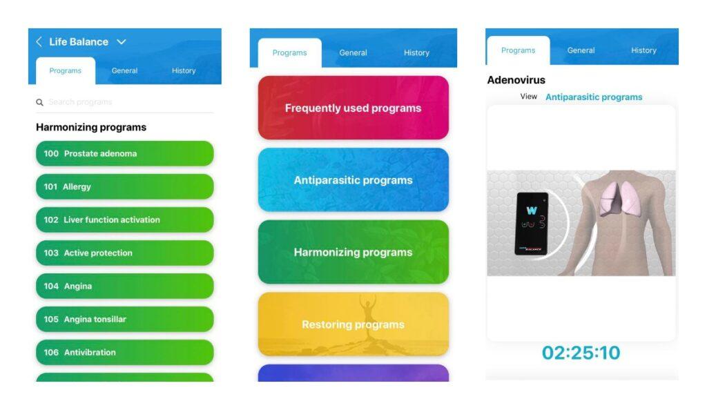 WebWellness mobile phone app